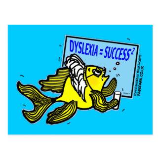 Carte Postale Succès de dyslexique de ~ de poissons de