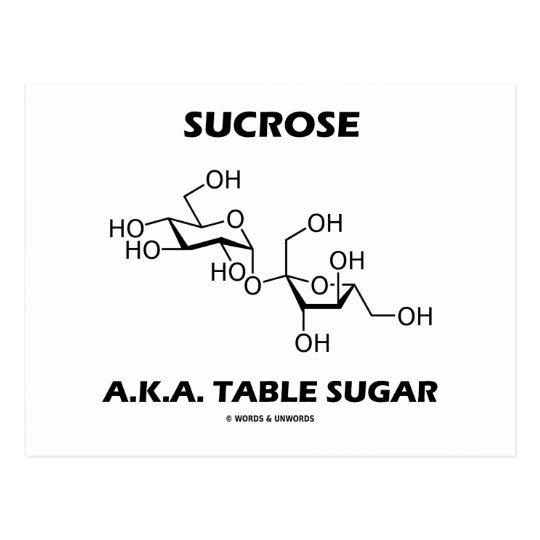 Carte Postale Sucre De Tableau De Saccharose A K A Molecule Zazzle Fr