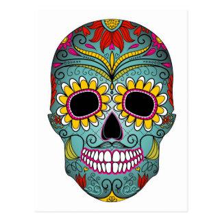 Carte Postale Sucrez le jour de crâne des morts avec les