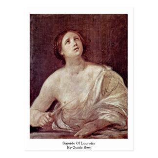 Carte Postale Suicide de Lucretia par Guido Reni