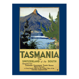 Carte Postale ~ Suisse de la Tasmanie des sud