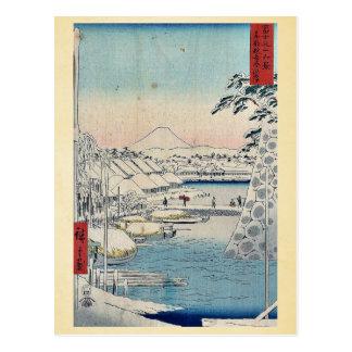 Carte Postale Sukiyabashi le capital oriental par Ando,
