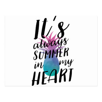 Carte Postale Summer Pineapple