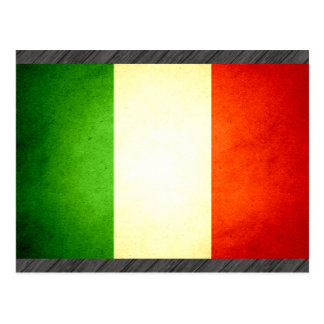 Carte Postale Sun a embrassé le drapeau de l'Italie