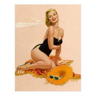 Carte Postale Sunbather PinUp