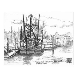 Carte Postale Sundad au bassin de bateau, Charleston, Orégon