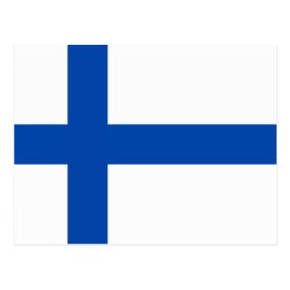 Carte Postale Suomen Lippu - le drapeau de la Finlande