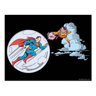Carte Postale Superman a emprisonné dans la bulle