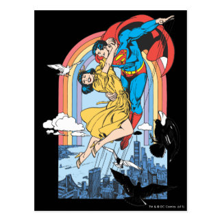 Carte Postale Superman et Lois en jaune