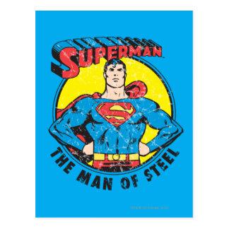 Carte Postale Superman l'homme de l'acier