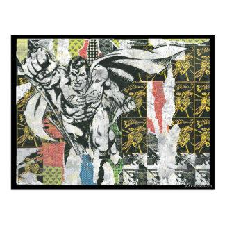 Carte Postale Superman - montent le collage