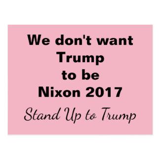 Carte Postale Support de Nixon 2017 d'atout jusqu'à l'atout