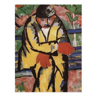 Carte Postale Sur le boulevard par Kazimir Malevich