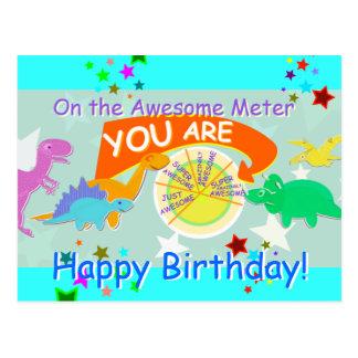 Carte Postale Sur le mètre impressionnant vous anniversaire de