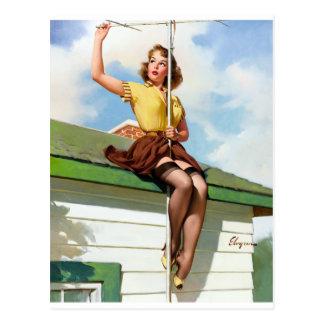 Carte Postale Sur le Pin de toit