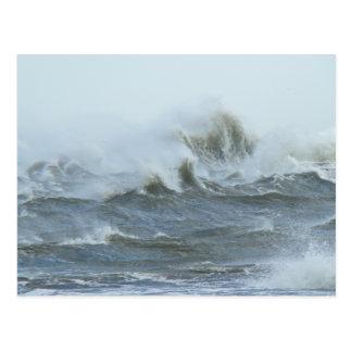 Carte Postale Surf élevé - banques externes la Caroline du Nord