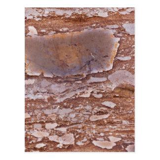 Carte Postale Surface d'un grès rouge avec les geods siliceux