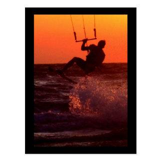 Carte Postale Surfer de cerf-volant