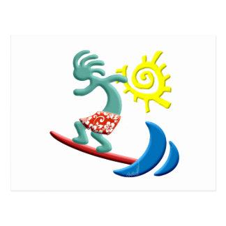 Carte Postale Surfer de Kokopelli