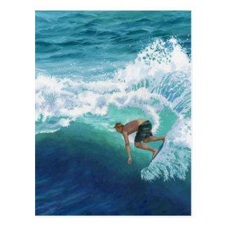 Carte Postale Surfer de Skimboard