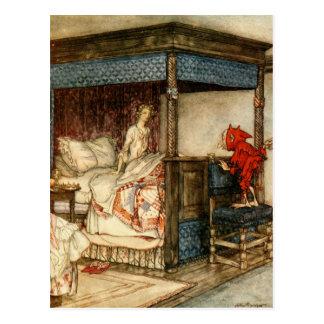 Carte Postale Surprise de gnome par Arthur Rackham
