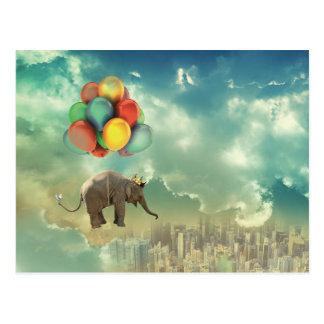 Carte postale surréaliste d'éléphant de ballon