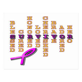 Carte Postale Survivant de cancer du sein