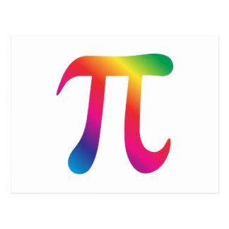 Carte Postale Symbole coloré de pi