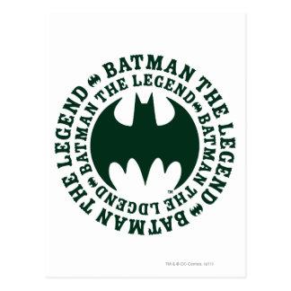 Carte Postale Symbole | de Batman le logo de légende