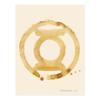 Carte Postale Symbole de lanterne de café
