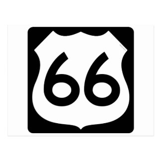 Carte Postale Symbole de l'itinéraire 66