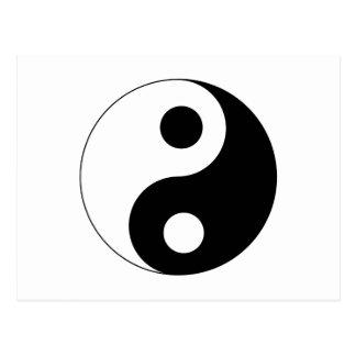 Carte Postale Symbole de Yin Yang