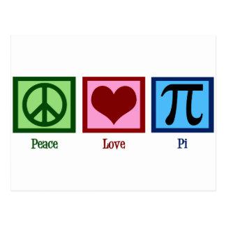 Carte Postale Symbole du coeur pi de signe de paix