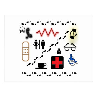 Carte Postale Symboles de santé
