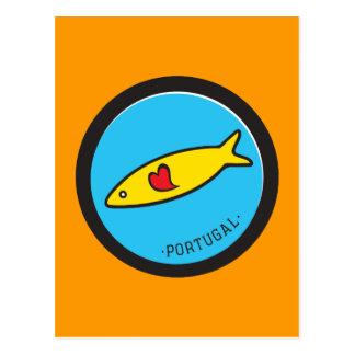 Carte Postale Symboles du Portugal - sardine Nr. 02