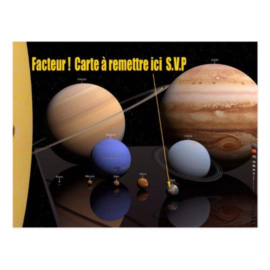 Carte postale système solaire