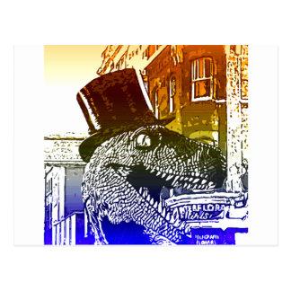 Carte Postale T-Rex dans un tophat
