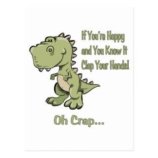 Carte Postale T-Rex heureux