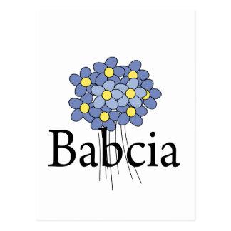 Carte Postale T-shirt assez bleu de Babcia de fleur