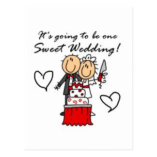 Carte Postale T-shirts doux et cadeaux d'un mariage