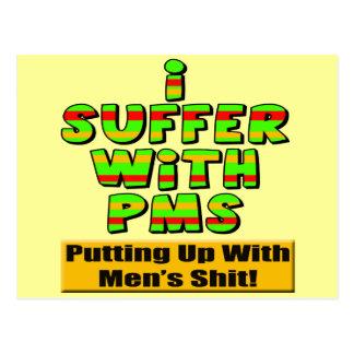 Carte Postale T-shirts drôle et cadeaux de PMS pour elle