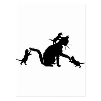 Carte Postale T-shirts et cadeaux 253 de chaton