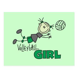 Carte Postale T-shirts et cadeaux de fille de volleyball