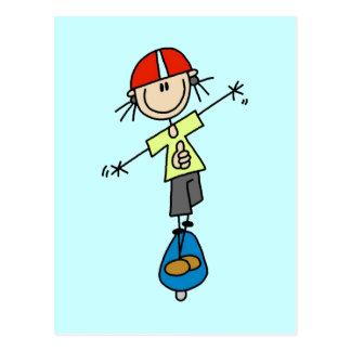 Carte Postale T-shirts et cadeaux de planchiste de fille