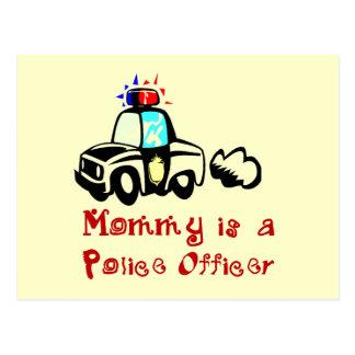 Carte Postale T-shirts et cadeaux de policier de maman