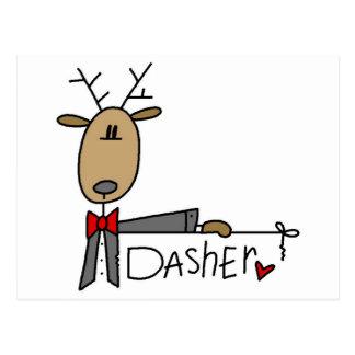 Carte Postale T-shirts et cadeaux de renne de Dasher