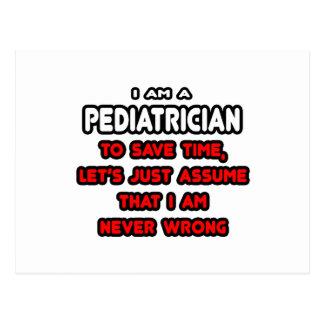 Carte Postale T-shirts et cadeaux drôles de pédiatre