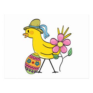 Carte Postale T-shirts et cadeaux jaunes d'oiseau de Pâques