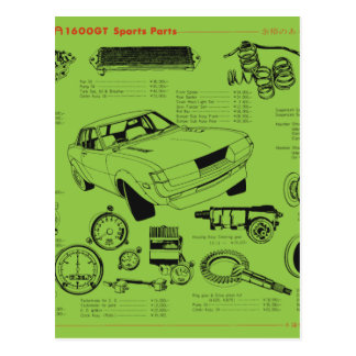 Carte Postale TA22 Celica Tosco partie l'affiche