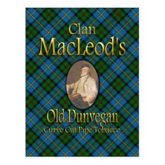 Carte Postale Tabac de tuyau de Dunvegan de MacLeod de clan